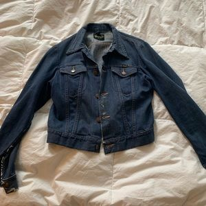 Vintage denim wrangler jacket patches S/M
